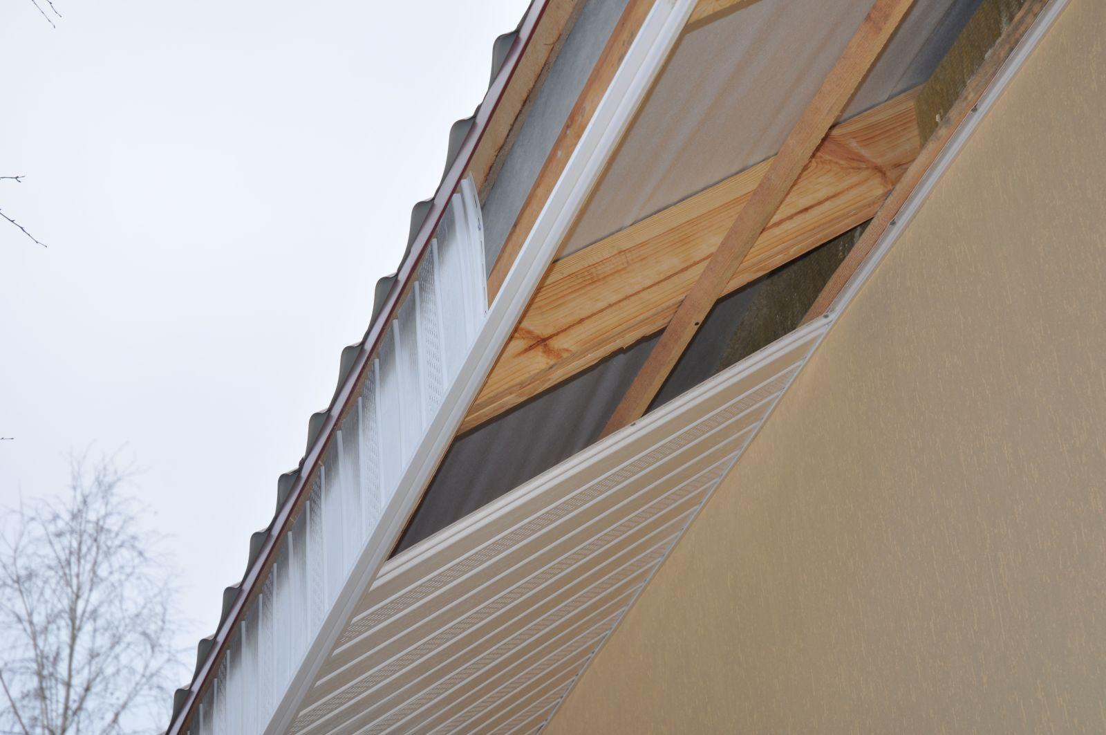 Подшивка карниза крыши своими руками Строительный портал 43