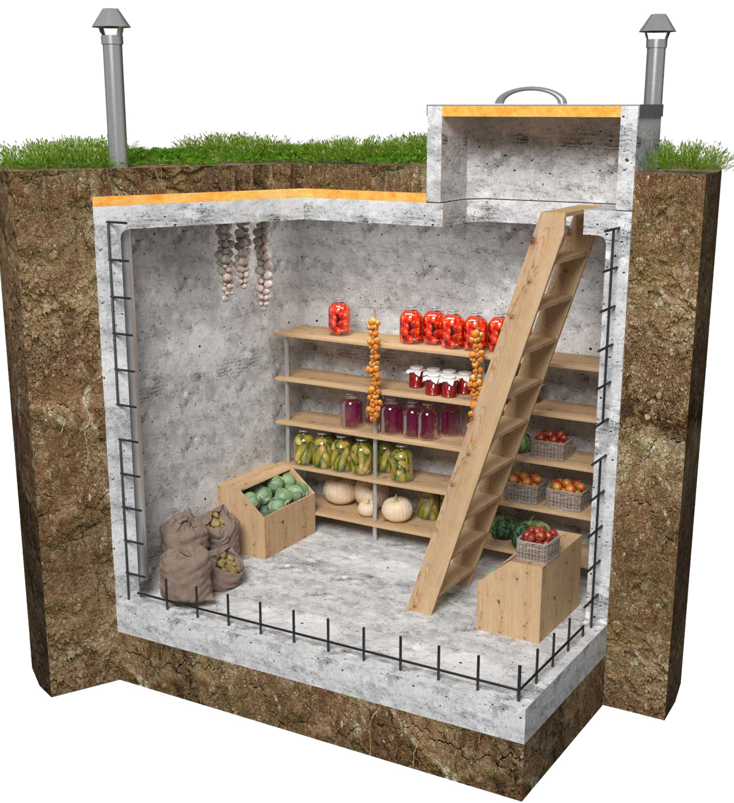 Строим погреб на земле с высоким уровнем грунтовых вод 63