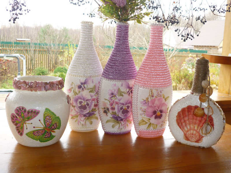 dekor-vazy-svoimi-rukami-idei-i-sovety-po-izgotovleniyu Декор вазы своими руками - фото самых красивых вариантов дизайна