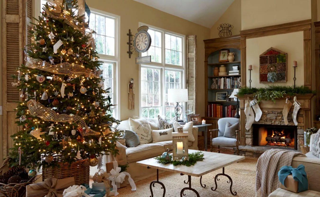 Дизайн дома к новому году фото
