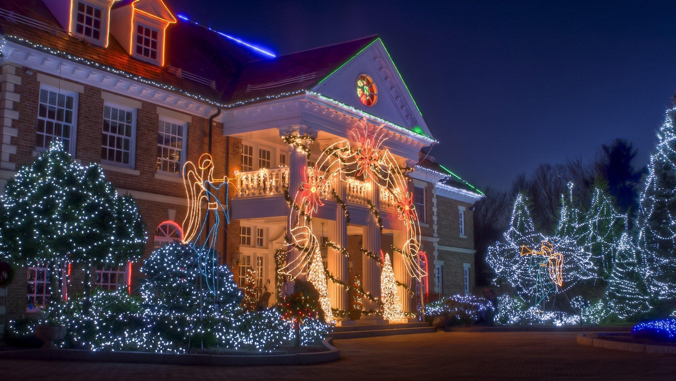 Картинки дом в новый год