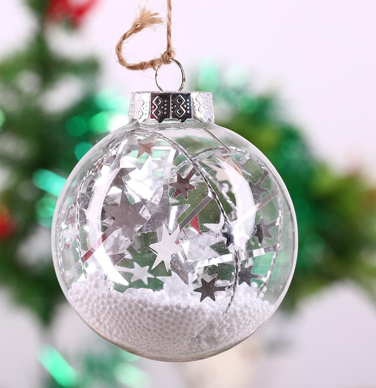 прозрачные новогодние шары с фото внутри образом передний задний