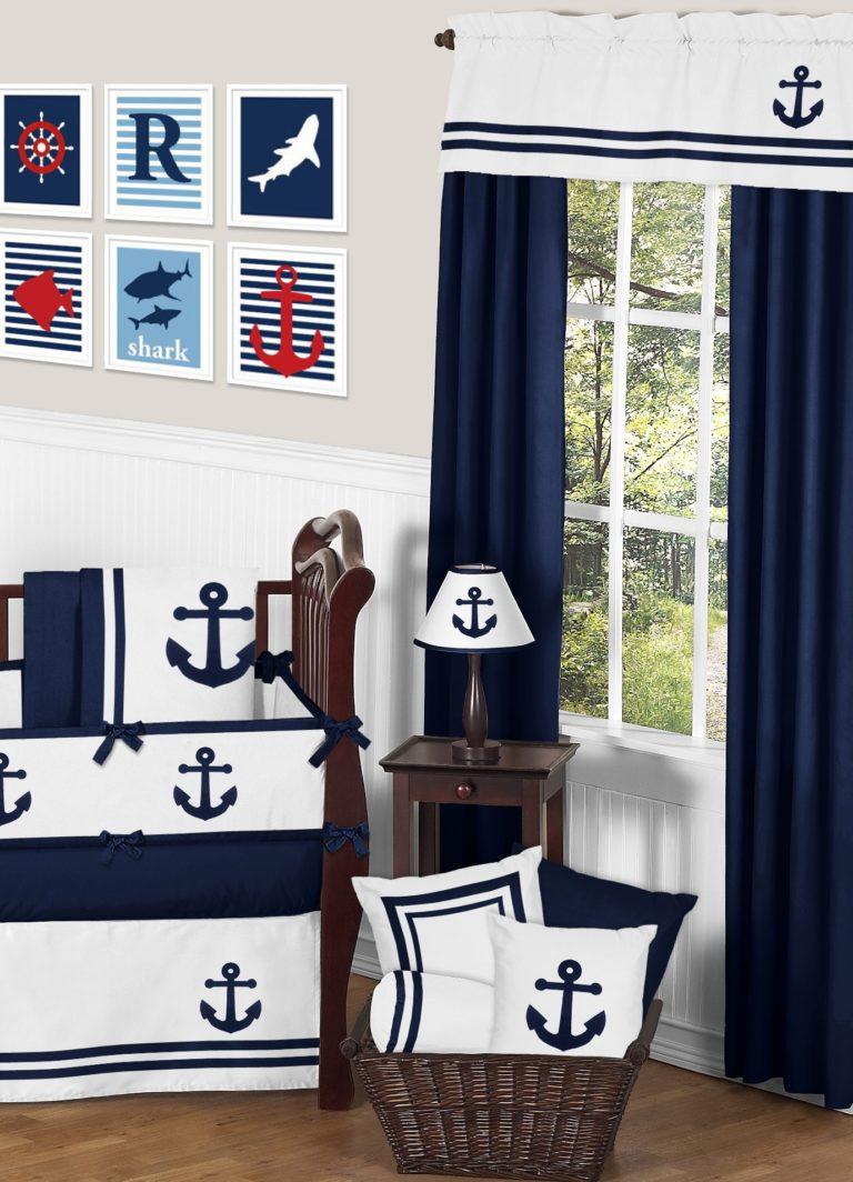 Шторы в морском стиле для гостиной