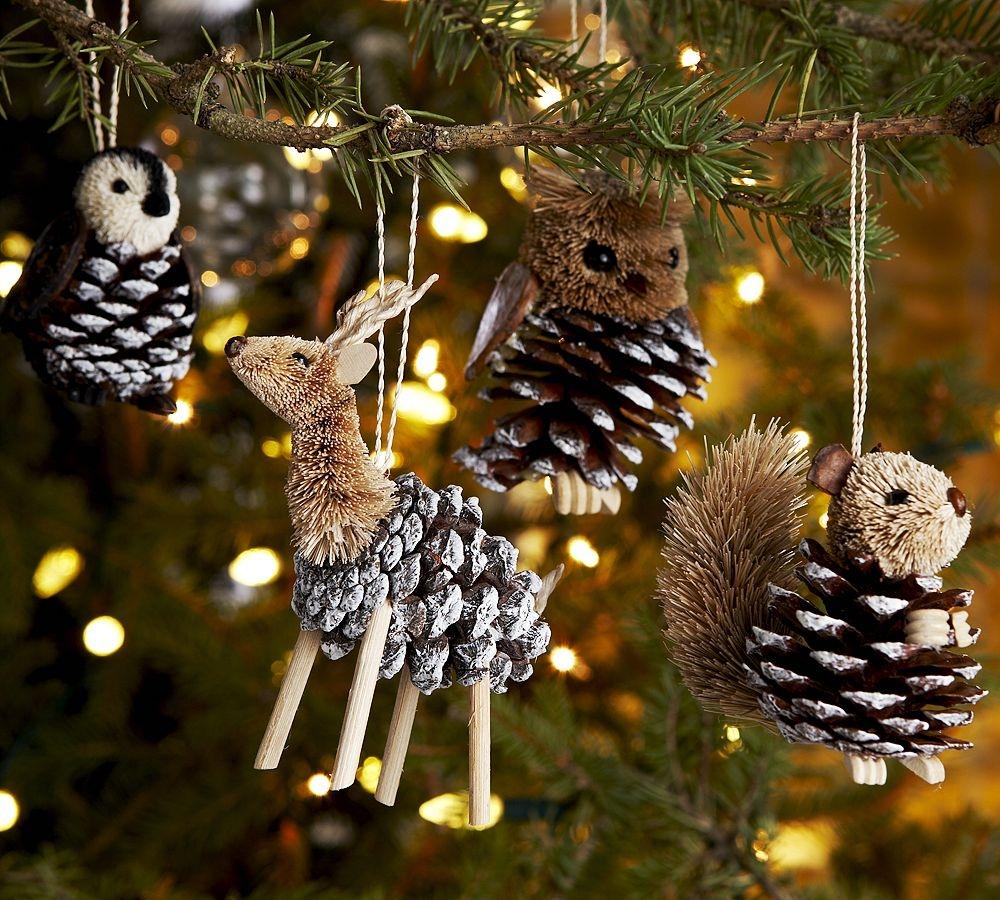 Елочные игрушки из шишек (47 фото): пошаговый мастер-класс по созданию украшений на елку из шишек своими руками