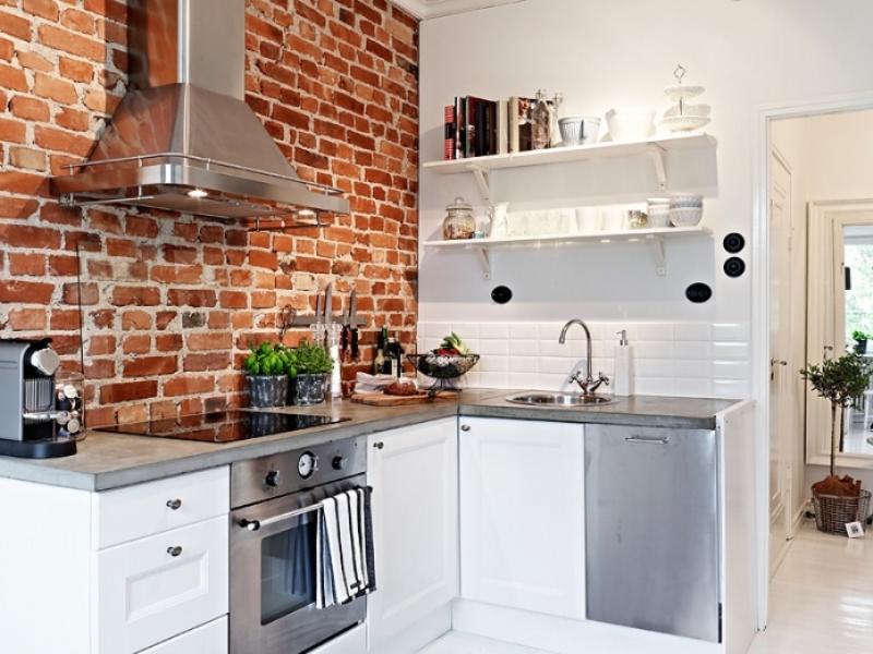 желательным дизайн кухни с кирпичной стеной фото такую завидную