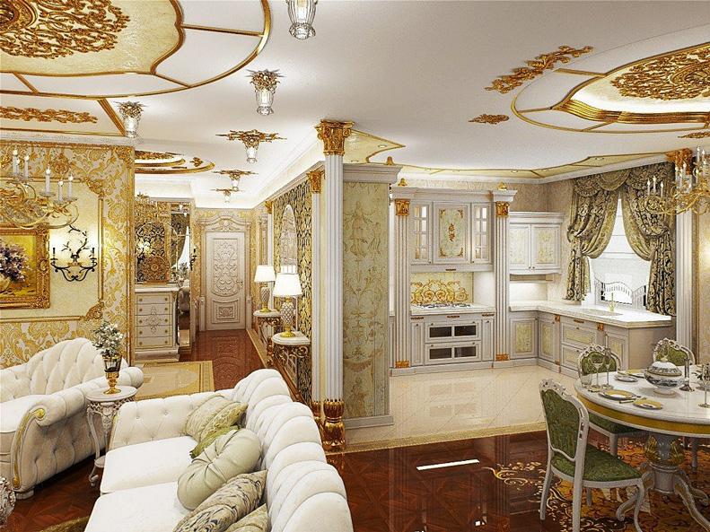 фото элитного ремонта кухня гостиная обе фотографии