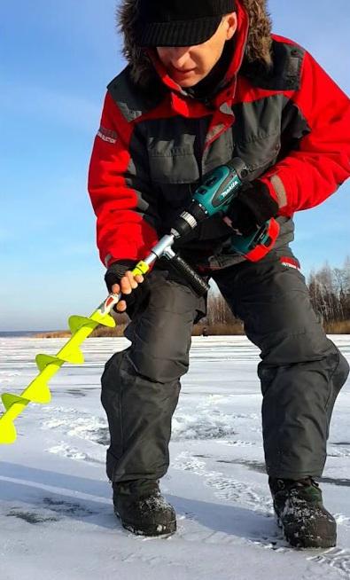 Коловорот для зимней рыбалки с шуруповертом