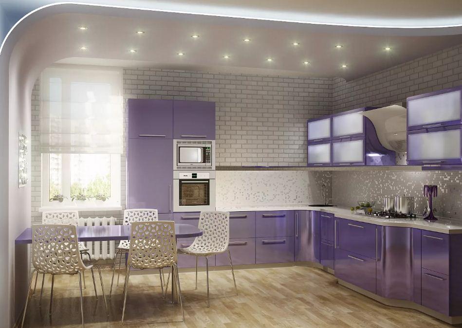 бесплатная кухни бело лавандовый цвет фото если ежик терялся