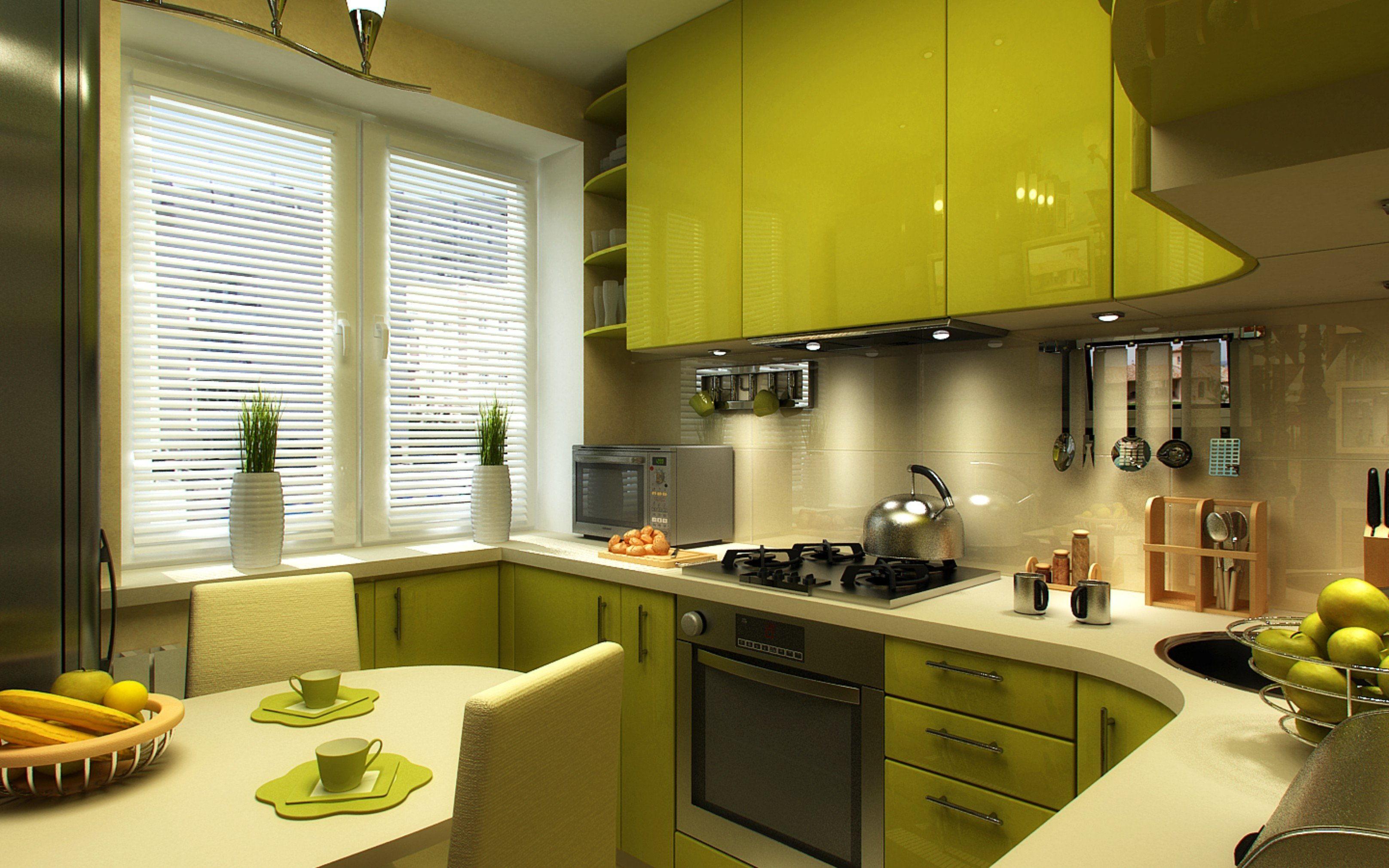 Фото кухни шесть квадратных метров