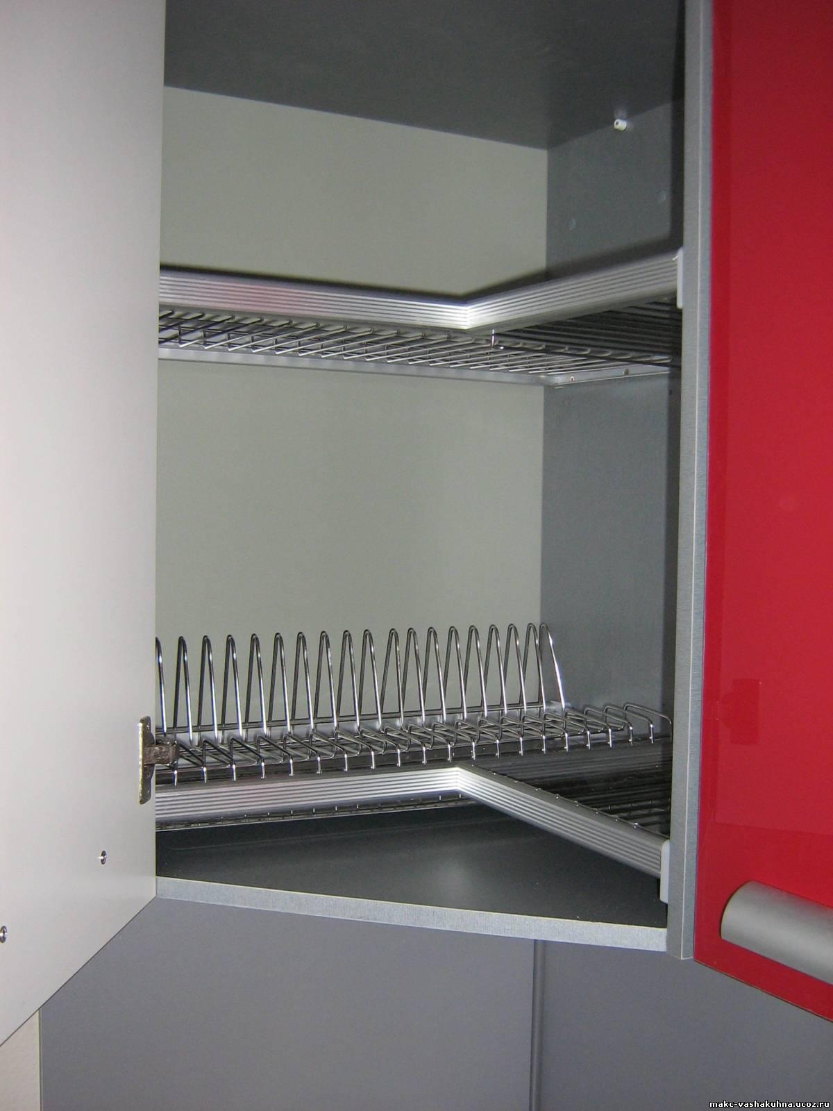 сушилка в угловом шкафу кухни фото напольное покрытие