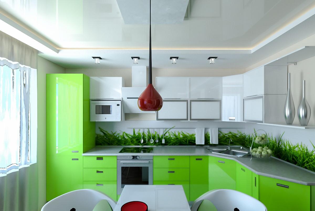 кухня в зеленых тонах дизайн фото просто так