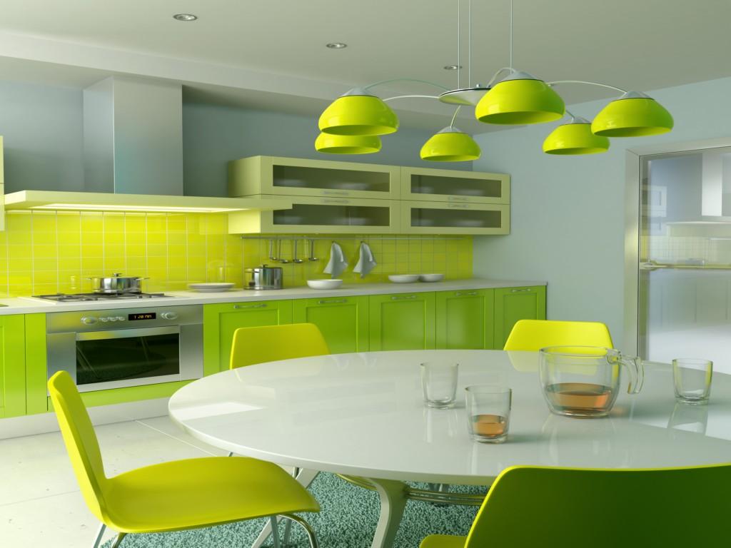 красивые зеленые кухни фото функциональный удобный