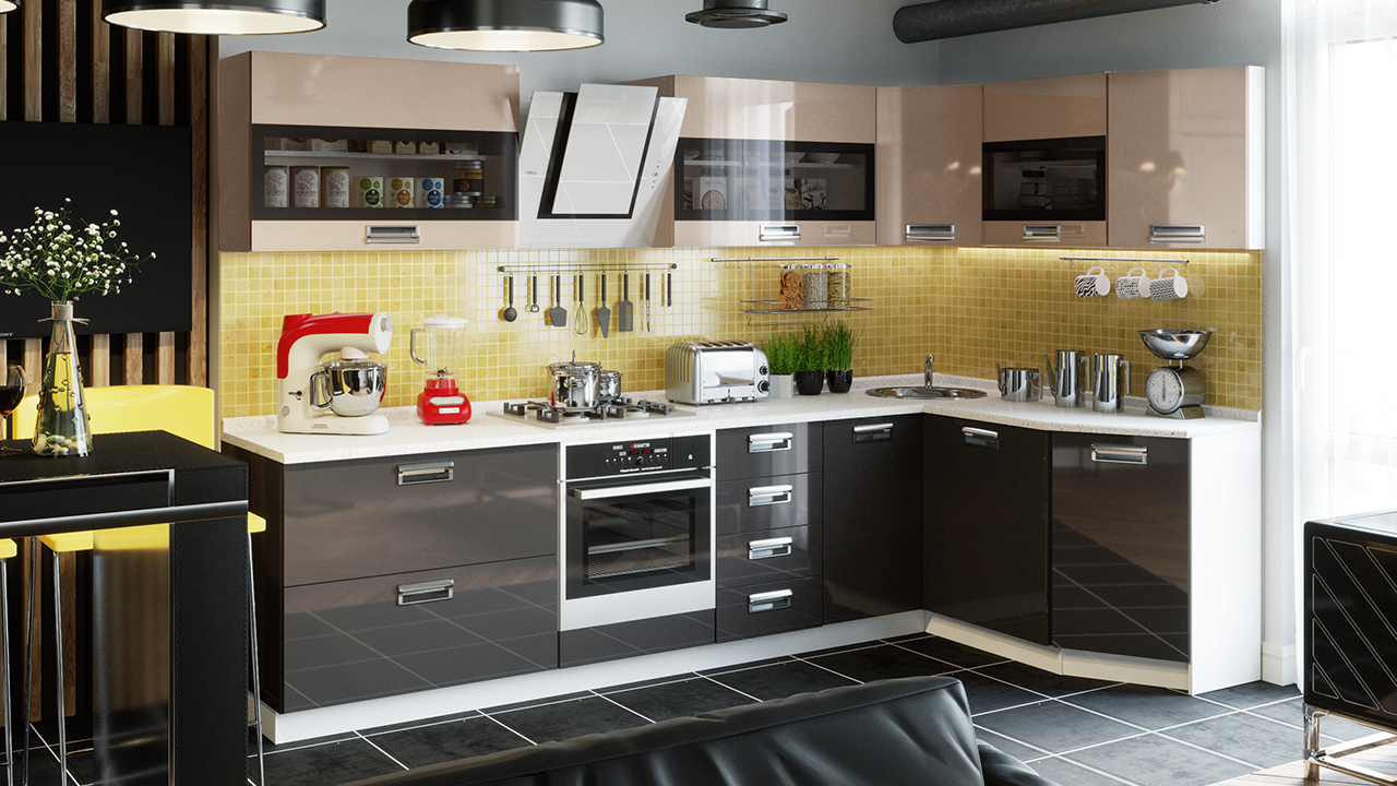 она модели кухонных гарнитуров угловых фото которых рабочей является