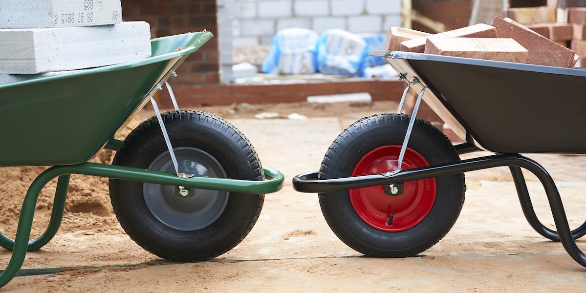 Строительные одноколесные усиленные тачки || Строительная двухколесная тачка выбираем 2-колесную тележку с литыми колесами особенности моделей