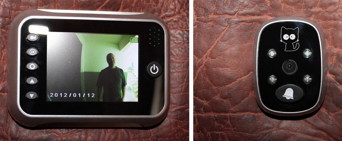 Видеоглазок и экран