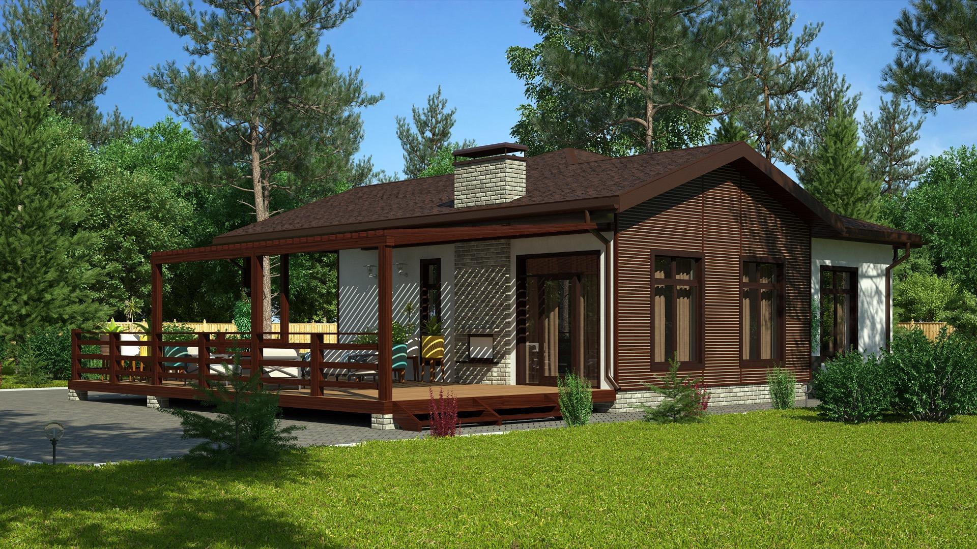 проект небольшого дачного домика с террасой фото пряжу