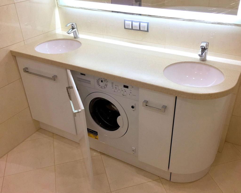 Тумба с раковиной под стиральную машину ее виды и варианты моделей