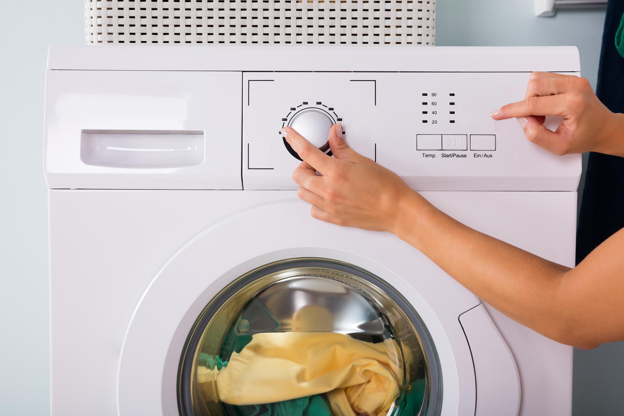 Значок «деликатная стирка» на стиральной машине