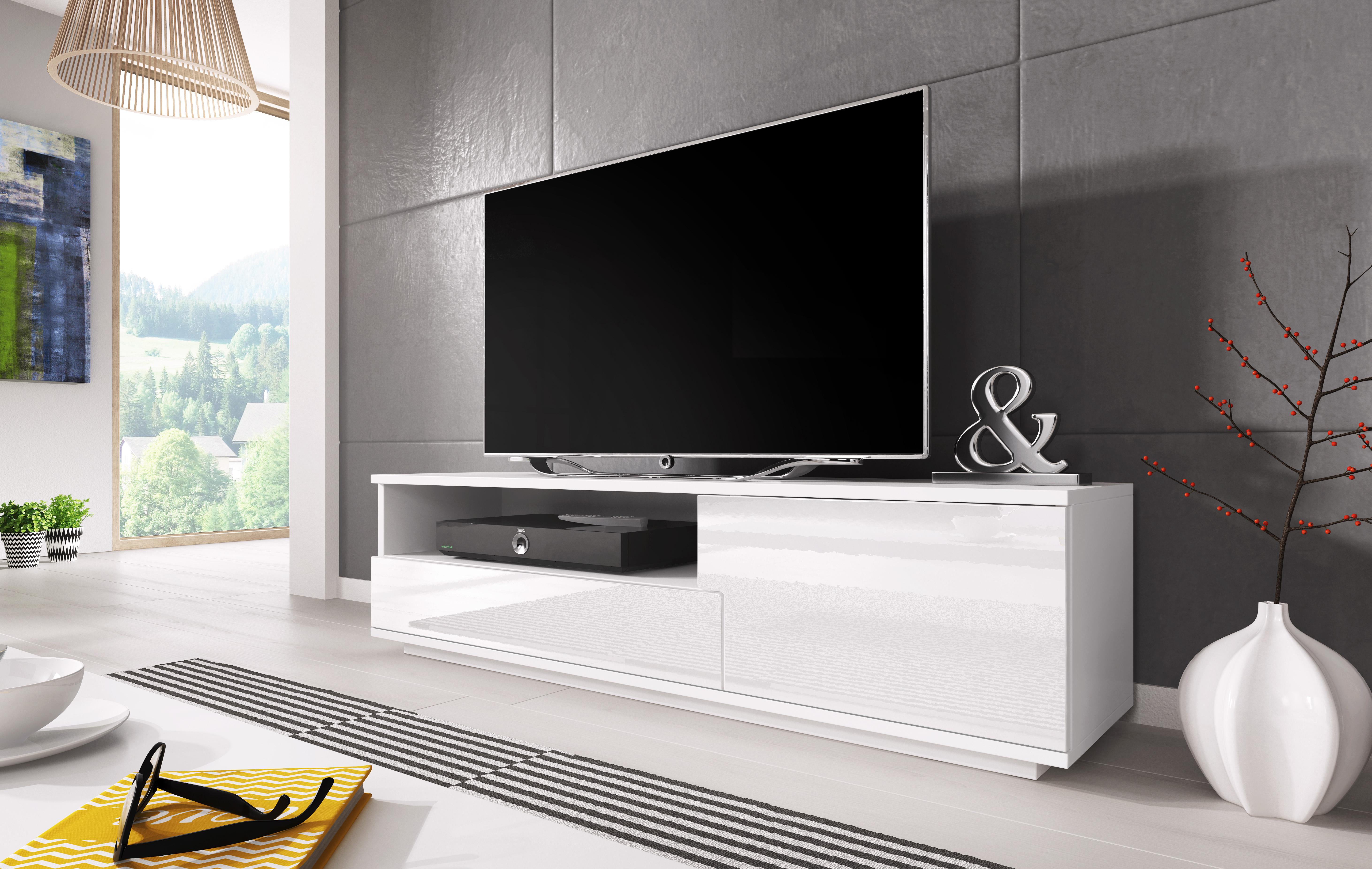 Выбираем белую тумбу под телевизор