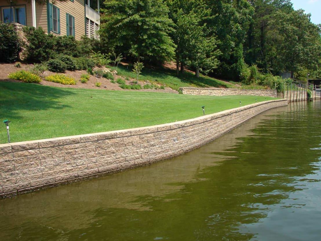 Как укрепить берега ручья