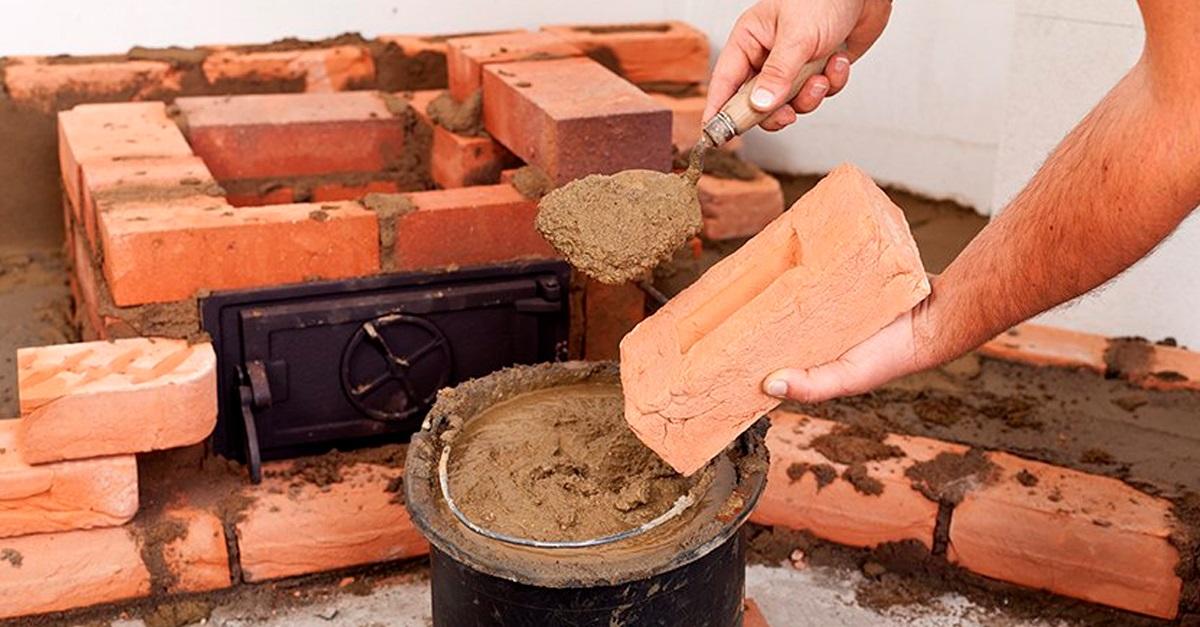 как развести глину для печи