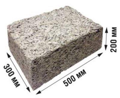 арболитовый блок размеры