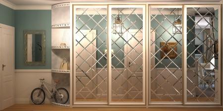 Классический шкаф-купе (60 фото): красивые модели из МДФ в прихожую с рисунком в классическом стиле, идеи с колоннами в интерьере