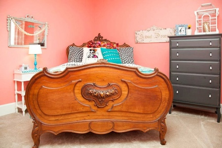 cama doble de madera