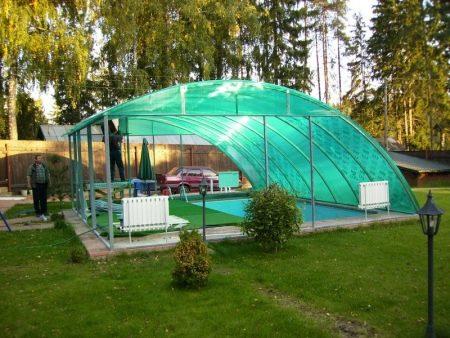 Навес-беседка (51 фото): дачные и садовые модели, варианты для дачи с террасой, выбор конструкции и материалов