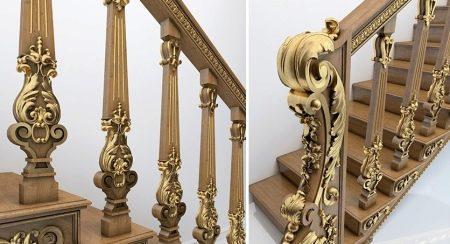 Лестницы деревянные - Образцы балясин и столбов для