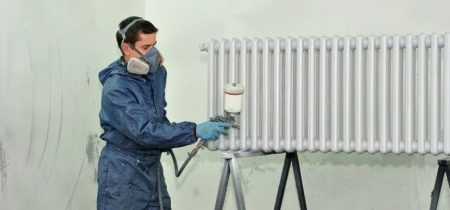 Краска для радиаторов отопления (68 фото): можно ли красить горячие, быстросохнущая эмаль без запаха для батарей