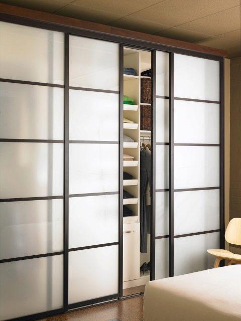 раздвижные двери для гардеробной 82 фото зеркальные