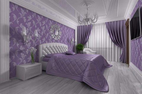 комплект шторы и покрывало для спальни 65 фото красивые