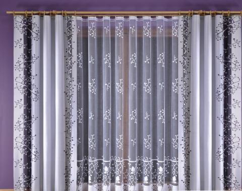 Легкая тюлевая штора из вуали с нежным печатным рисунком по всему ... | 380x480