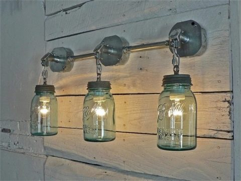 бра в стиле лофт настенные светильники с гирей и