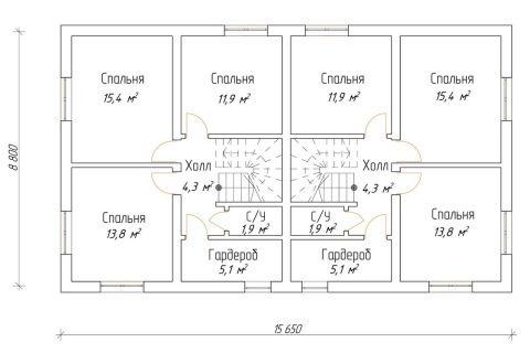 Изображение - Дом с разными входами раздел для двоих хозяев dom-na-dve-semi-s-dvumya-otdelnymi-vhodami-primery-proektov-11