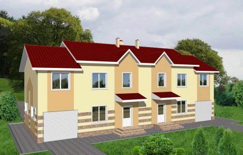 Изображение - Дом с разными входами раздел для двоих хозяев dom-na-dve-semi-s-dvumya-otdelnymi-vhodami-primery-proektov-28