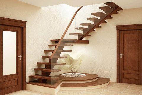 Дизайн лестницы (96 фото): в интерьере гостиной, интерьерное ...