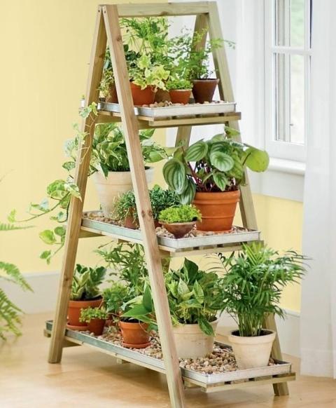 Самодельные полочки для цветов - Дача, сад, огород, комнатные растения   582x480