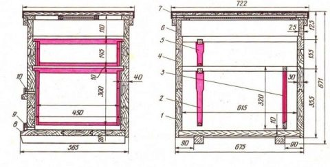 12 рамочный улей дадана чертежи