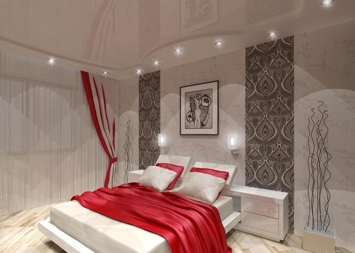 196Дизайн спальной комнаты в белом цвете