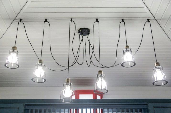 Потолок из лампочек своими руками 68
