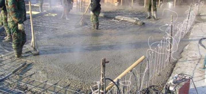 Прогрев бетона электродами