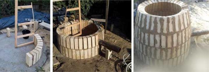 Процесс постройки тандыра