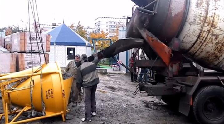 Бадья для бетона для смеси строительной