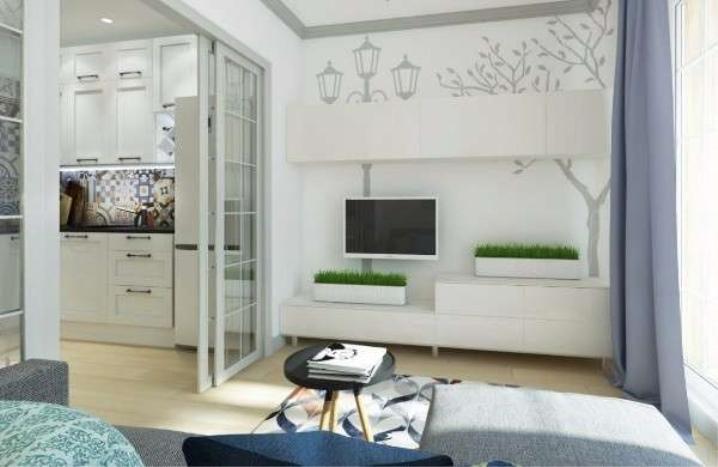 дизайн маленькой студии квартиры фото