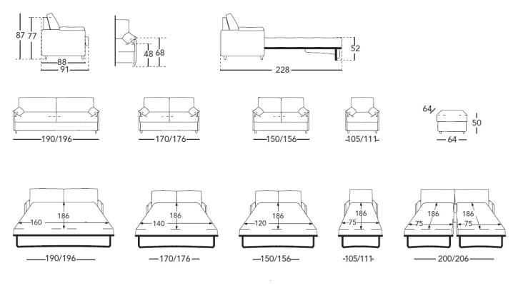 двухместный диван 92 фото кожаный и из ротанга модель клиппан