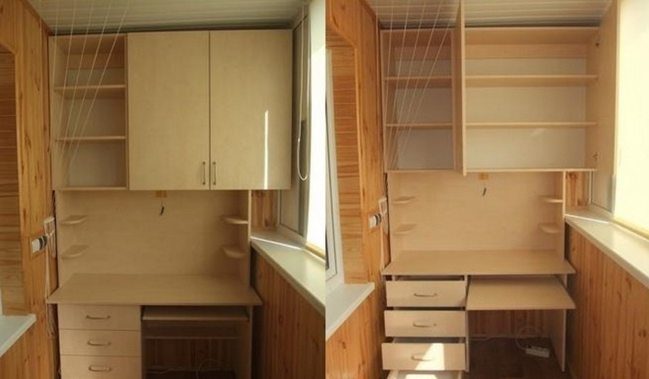 Шкаф на балкон, лоджию своими руками (43 фото): как красиво .