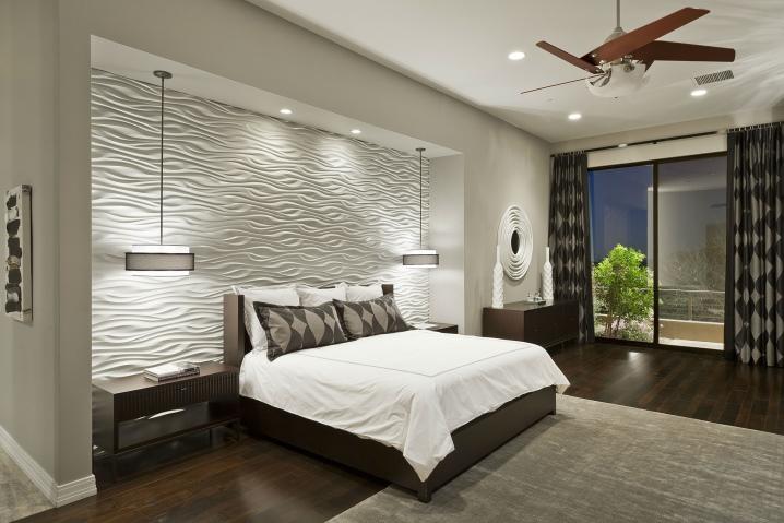 стены в спальне фото