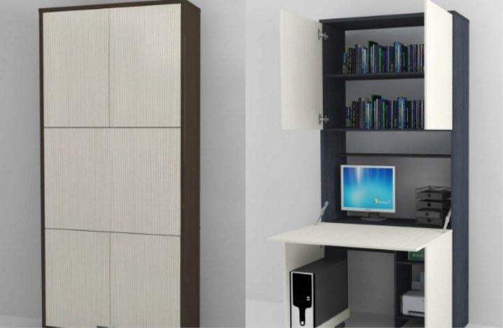 Шкаф-стол (31 фото): модели-трансформеры в виде секретера и .